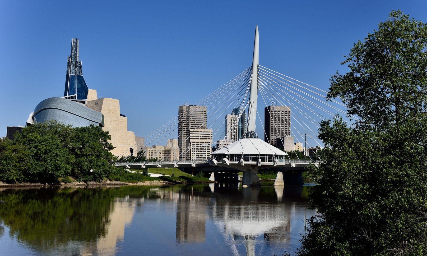 L'horizon de la ville de Winnipeg
